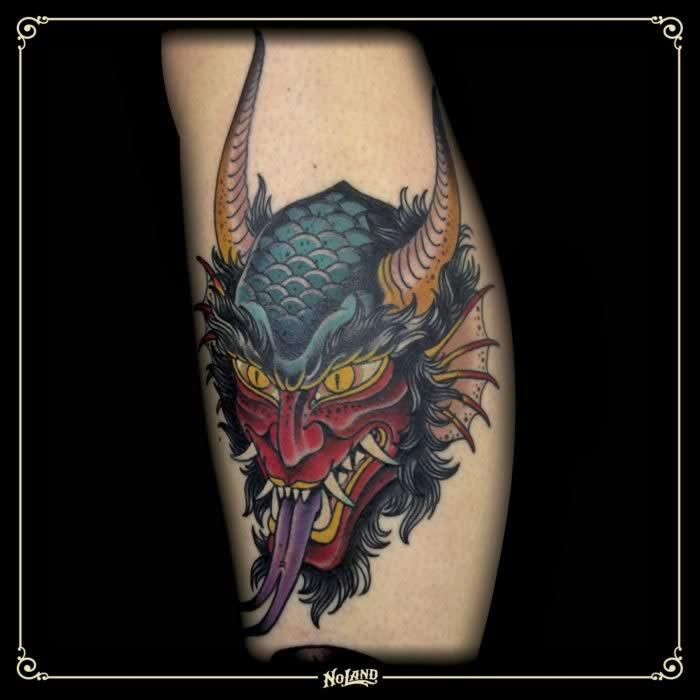 Xam diablo neotradicional no land tattoo demon