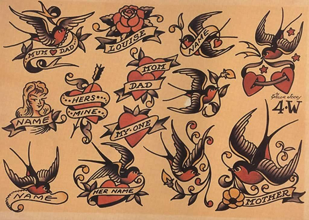 Sailor Jerry - USA 1940 - golondrinas